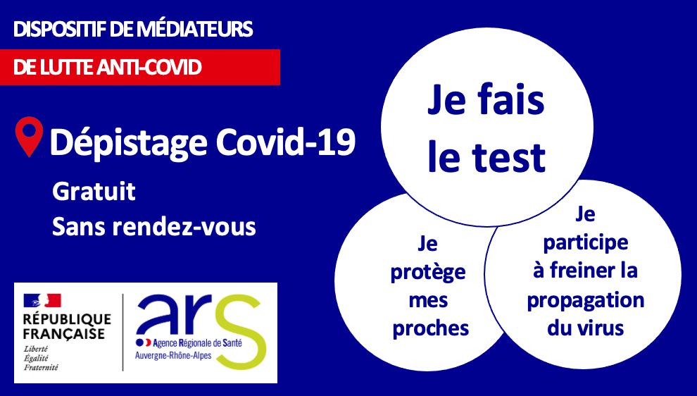 Dépistage Covid 19 le vendredi 26 mars à Chamonix